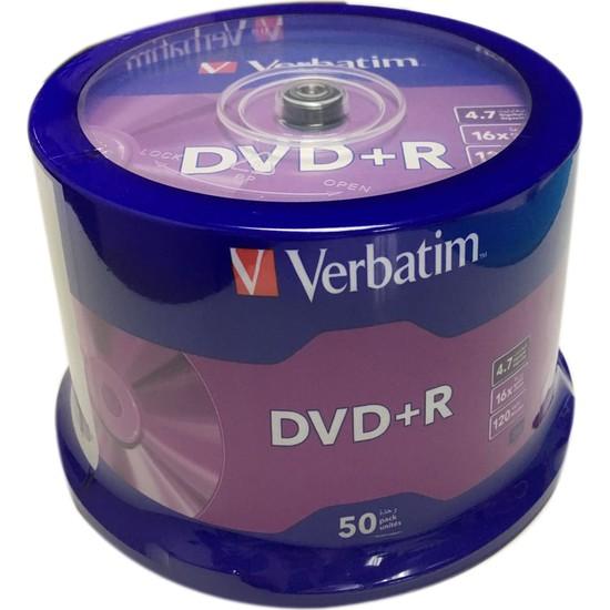 Verbatim 4.7GB 16X DvD+R 50'lik Kutulu