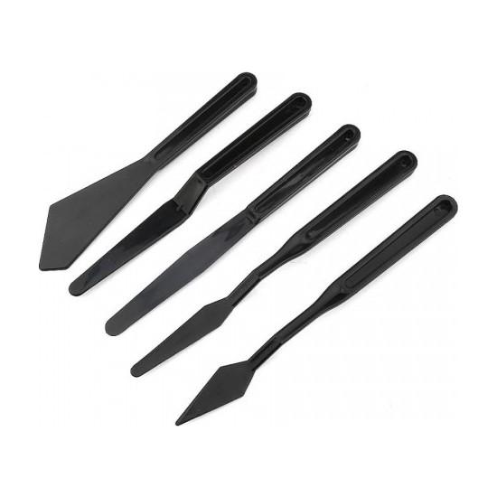 Rich Plastik Spatül Set 5'li Siyah