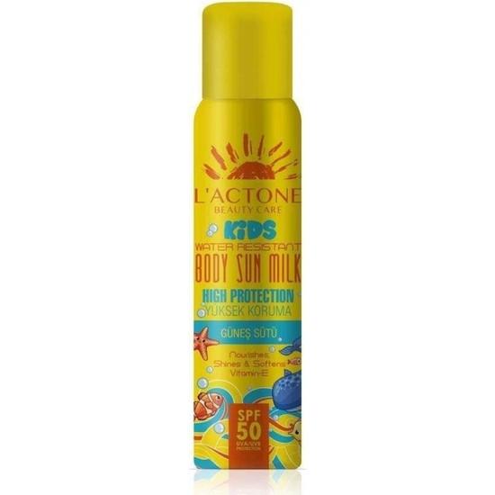 L'actone Yüksek Koruma Sağlayan Güneş Sütü 50 Spf Çocuk 150ML