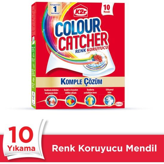 K2r Çamaşır Deterjanı Renk Koruyucu Mendil 10'lu