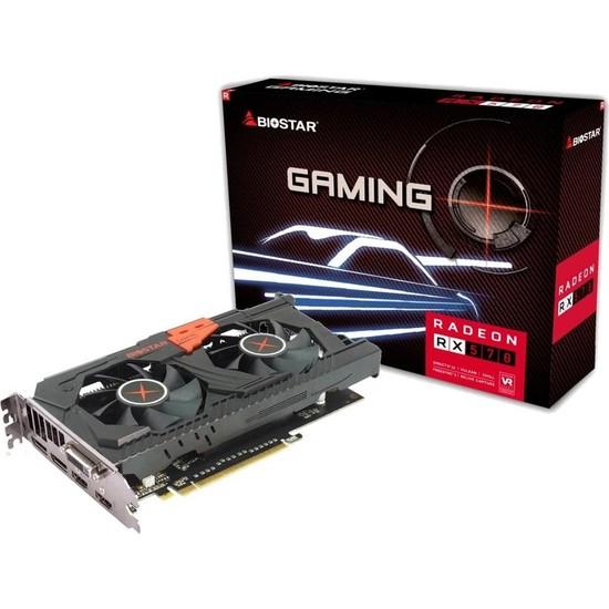 Biostar AMD Radeon RX570 8GB (Dual Cooling) 256Bit GDDR5 (DX12) PCI-E 3.0 Ekran Kartı (BIO-VA5705RV82)