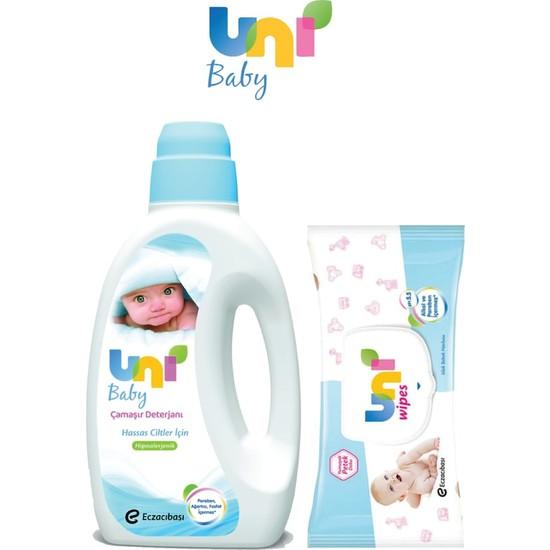 Uni Baby Çamaşır Deterjanı 1500 ml 6'lı Set Islak Havlu