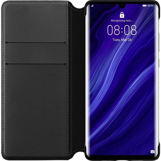 Huawei P30 Pro Cüzdan Kılıf - Siyah