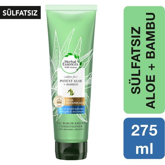 Herbal Essences Sülfatsız Güç ve Nem Aloe + Bambu Şampuan Saç Bakım Kremi 275 ml