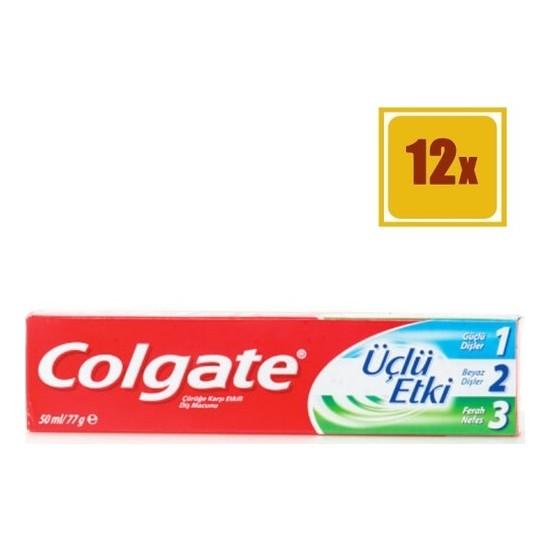 Colgate Diş Macunu Üçlü Etki 50 ml 12'li Set