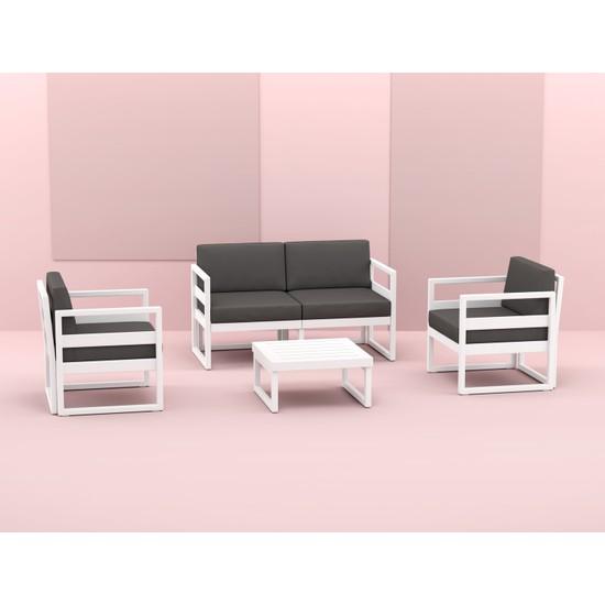 Siesta Exclusive Mykonos Lounge Set Beyaz