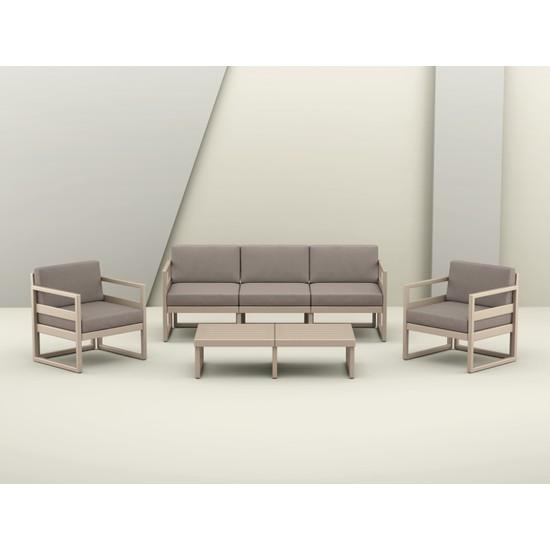 Siesta Exclusive Mykonos Lounge Set Xl Kum Gri