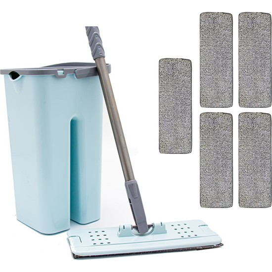 Zambak +5 Yedek Mop ve Zambak Tablet Mop Temizlik Seti