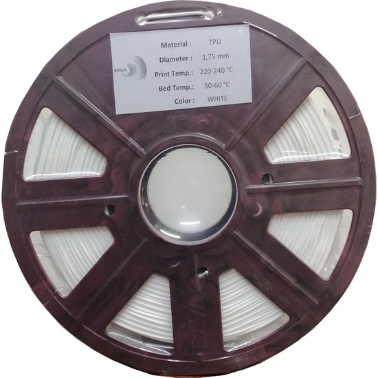 Sava Tpu (Flex) Esnek Filament - 1.75 mm Beyaz