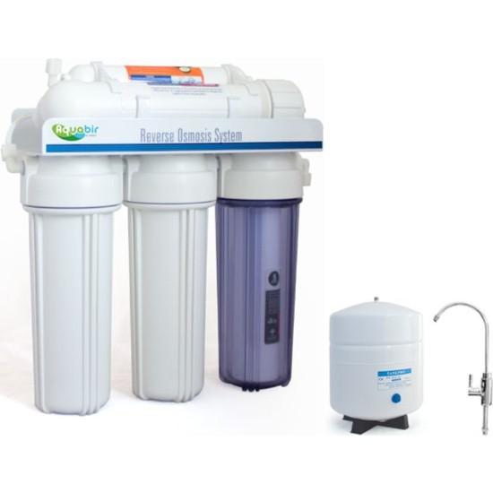 Aquabir 5 Aşamalı Pompasız Su Arıtma Cihazı Açık Kasa Tip