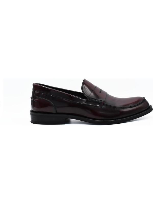 Fertini Deri Bordo Loafer Erkek Ayakkabı