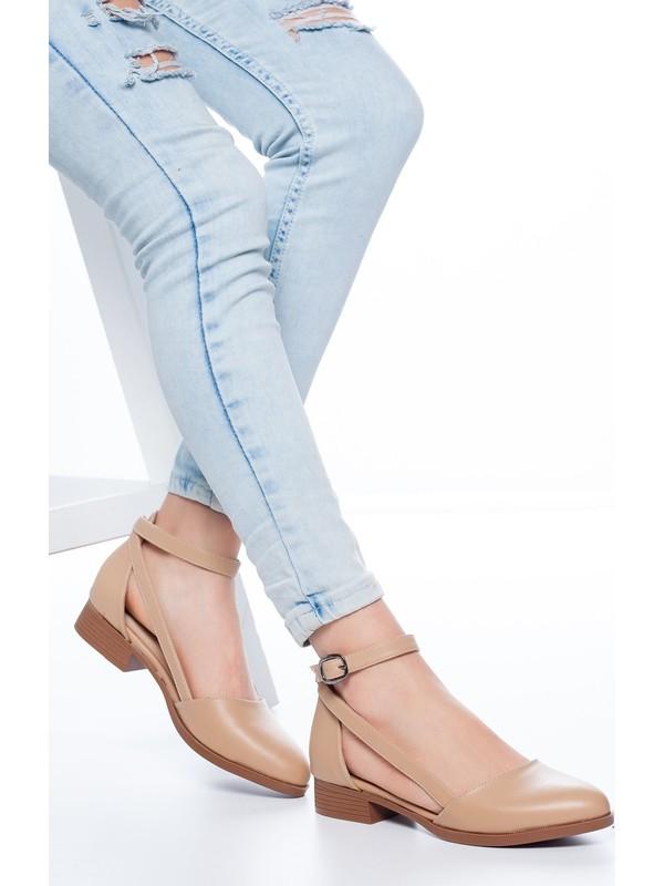 Mask Rayna Kısa Topuk Cilt Ayakkabı Ten