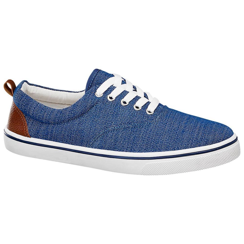 Vty Bayan Mavi Keten Sneaker