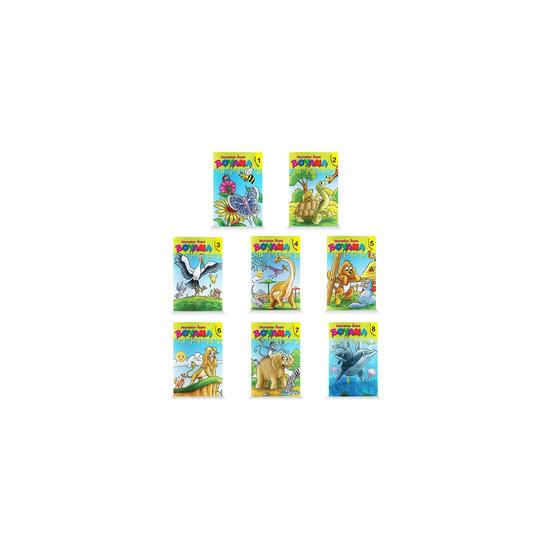 Okul öncesi Ve 1 Sınıf Hayvanlar Alemi Boyama 8 Kitap Fiyatı