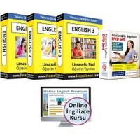 Limasollu Naci Canlı Eğitmen Destekli 4 kur İngilizce Eğitim Seti + Online İngilizce Kursu Bir Arada