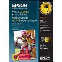 Epson Value Glossy Fotoğraf Kağıdı 10x15cm 2 x 20 sheet