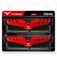 Team T-Force Dark 16GB DDR4 2666MHz Gaming Soğutuculu Ram Bellek (2x8GB Dual Kit) Kırmızı (TM4TD266682RD)
