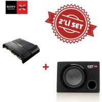 Sony XM-GS4 4 kanal Amfi ile Sony XS-GSW121 Kabinli Subwoofer Kabinli Set