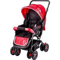 Johnson Snopy Çift Yönlü Bebek Arabası / Kırmızı-Siyah