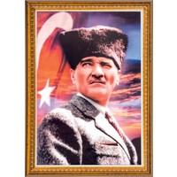 İnter 50x70 cm Varaklı Atatürk Portresi İNT-029