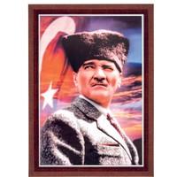 İnter 35x50 Pramit (Lamine) Çerçeveli Atatürk Portresi INT-824-3-L