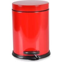 Oyks Pedallı Metal Çöp Kovası 3 Litre Kırmızı