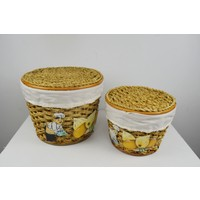 Cosıness Yuvarlak 2 Li Patates Soğan Sepeti - Natural