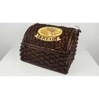 Cosıness Hasır Ekmek Sepeti - Koyu Kahve