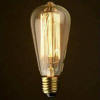 Edison Flemanlı Dekoratif Rustik Armut Ampul St64 Model