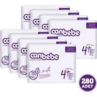 Canbebe Bebek Bezi Özel Paket Maxi Plus 4+ Beden 280 Adet