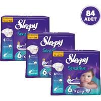 Sleepy Sensitive Bebek Bezi 6 Beden 84 Adet