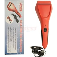 Oto Buz Kazıyıcısı Kırmızı Elektrikli 12V