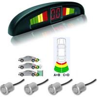 Park Sensörü Ekranlı Sesli 4Lü Gri Sensör 19mm