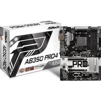 ASRock AB350 PRO4 2x PCIe x16 3200+MHz(OC)(Ryzen) DDR4 2400MHz(APU) ATX AM4 Anakart (ASRAB350-PRO4)