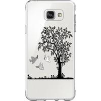 Remeto Samsung J7 Prime 2017 Ağaç Ve Kuşlar Resimli Şeffaf Silikon Kılıf