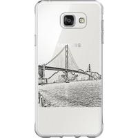 Remeto Samsung S8 Golden Gate Köprüsü Resimli Şeffaf Silikon Kılıf