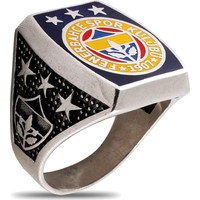 Akyüz Gümüş Fenerbahçe Amblemli Gümüş Yüzük Ey066