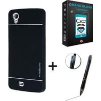 Case Man GM Discovery 2 Kılıf Motomo Metal Kaplama + Nano Glass Cam + Stylus Kalem 3lü Set