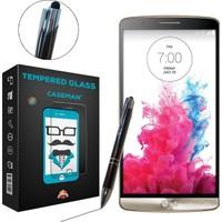 Case Man LG G3 Mini Kırılmaz Cam + Dokunmatik Stylus Kalem