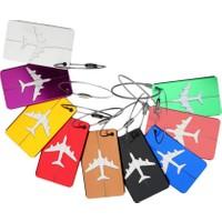 Travel Air Yeşil Metal Valiz Etiketi Bagaj Kimlik Etiketi Aluminyum Plaka Paslanmaz Çelik Bağlantı İpi Tasarım Etiket