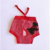 Kırmızı Cute Dog - Kemique'S Secret - Köpek İç Çamaşırı - Regl Külot - Don