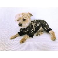 Kamuflaj Desen - Summer Tulum By Kemique - Köpek Tulumu - Yazlık Köpek Kıyafeti - Köpek Elbisesi