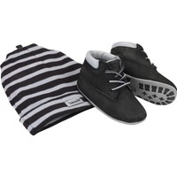 Timberland Black Naturebuck A19Z1 Crib Bootie With Hat Bot