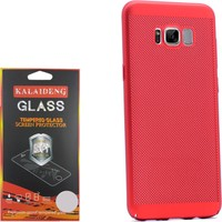 Gpack Samsung Galaxy S8 Kılıf Delikli Rubber Case +Cam