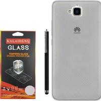 Gpack Huawei Y6 2 Pro Kılıf 02mm Silikon Case +Kalem +Cam
