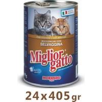 Miglior Gatto Av Hayvanlı Kedi Konservesi 405 Gr (24 Adet)