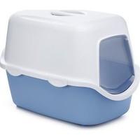 Stefanplast Cathy Kapali Kedi Tuvaleti Mavi 40X40X56 Cm