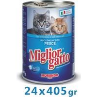 Miglior Gatto Balıklı Kedi Konservesi 405 Gr (24 Adet)
