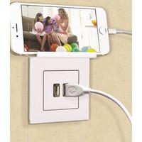 Eqona Pratik Beyaz Telefon Tutucu USB Şarj Prizi