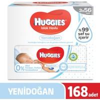 Huggies Yenidoğan Islak Havlu 3'lü Paket 168 Adet